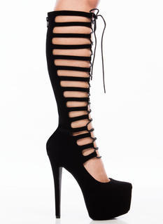 Lace To The Top Gladiator Platforms