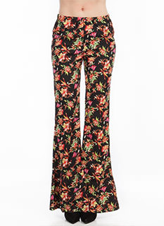Stay On Tropic Bell-Bottom Pants