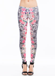 Mirrored Lace N Floral Leggings