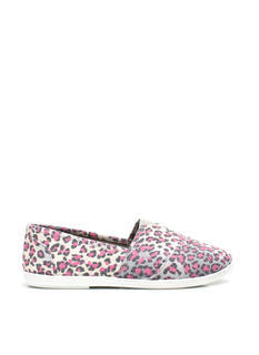Leopard Lady Canvas Skimmers