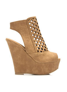 Windowpane Lattice Cut-Out Wedges