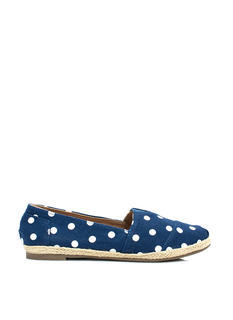 Dot The Eyes Espadrille Skimmer Flats