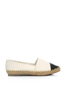Coco Chic Faux Leather Espadrille Flats