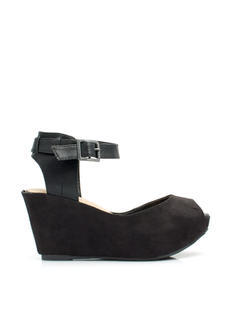 In The Mix Ankle Strap Wedges