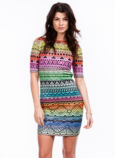 Tribal Nomad Cut-Out Dress