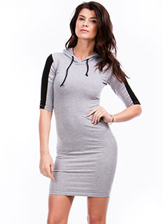 Colorblock Hoodie Bodycon Dress