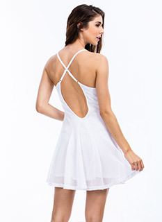 Net Case Sports Mesh Skater Dress