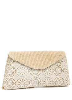 Woven N Crocheted Envelope Clutch