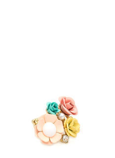 Floral N Pearl Bouquet Ring