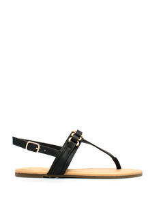 Come Closer Faux Leather Sandals