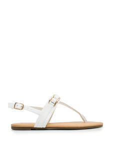 Beachin' Babe Faux Leather Sandals