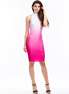 Ombr� Halter Bodycon Dress
