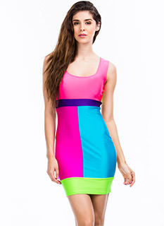 Colorblock Shock Bodycon Dress