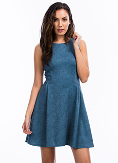 Darling Denim Skater Dress
