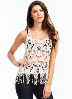 Lady In Crochet Tank