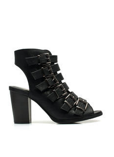 Endless Buckles Bootie Heels