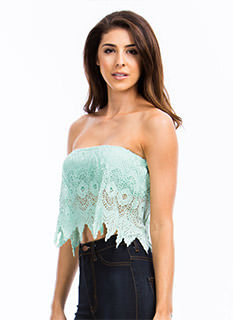 Piece Of Needlework Crochet Tube Top