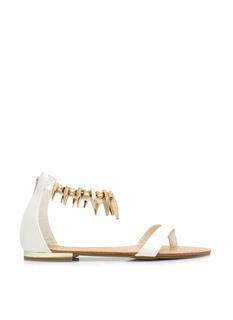 Perfectly Clawed Faux Leather Sandals