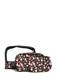 Floral Make-Up Bag Trio