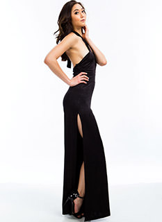 Split Second Halter Jumpsuit
