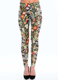 Tiger Lily Floral Mixed Print Pants