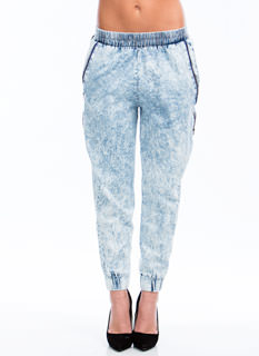 Zipped Into Shape Acid Wash Joggers