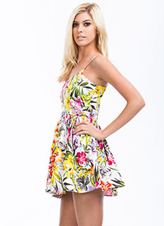 Butterfly Kisses Tropical Floral Dress