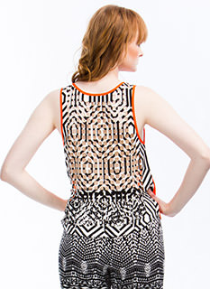 Checkerboard Cut-Out Tank