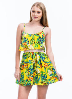 Tiers Of Joy Tropical Floral Dress