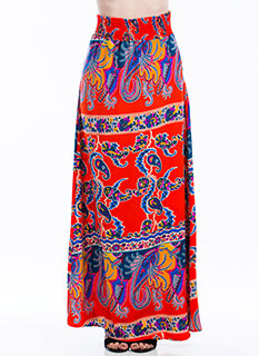 Pay Me In Paisley Maxi Skirt