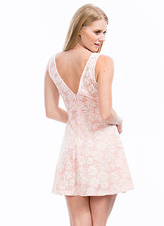 Fresh Threads Lacy Daisy Skater Dress