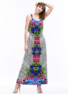 Lush Tropical Maxi Dress