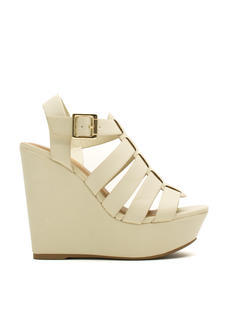 Happy In Strappy Platform Wedges