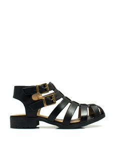 Caged Double Buckle Sandals