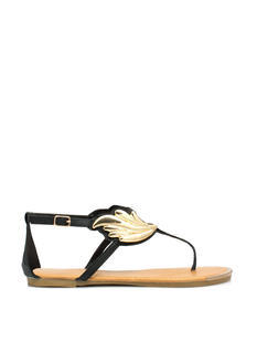 Winged Victory Faux Leather Sandals