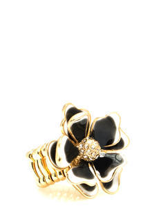 Dimensional Enameled Flower Ring