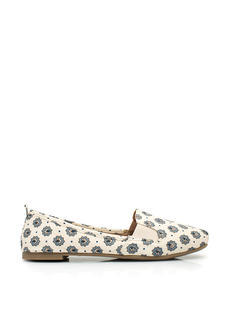You're Blossoming Floral Smoking Flats