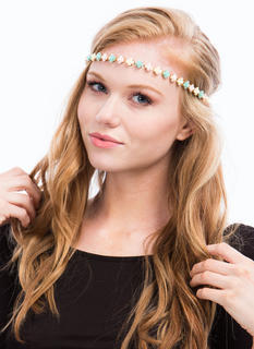 Enameled Rose Charm Headband