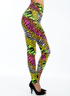 Hybrid Animal Neon Print Leggings
