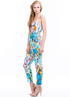 Palm Reading Tropical Jumpsuit