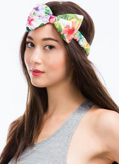 Tropical Floral Print Headband