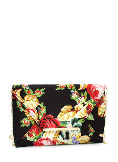 Digital Floral Envelope Clutch