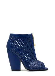 Diamond Lane Laser Cut-Out Booties