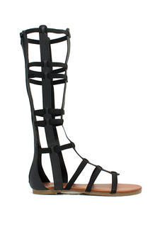 Windowpane Gladiator Sandals