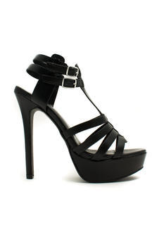 Ladder Strapped Platform Heels