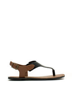 Mixed Media Tapered Sandals