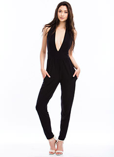 Taking The Plunge Halter Jumpsuit