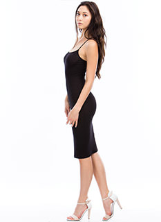 Slip My Mind Strappy Cami Midi Dress