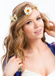 Daisy Crown Wire Headband
