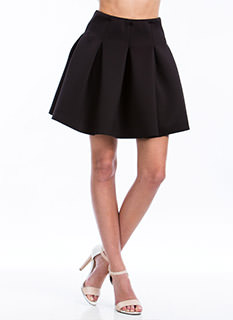 Say Pleats Fit N Flare Skirt